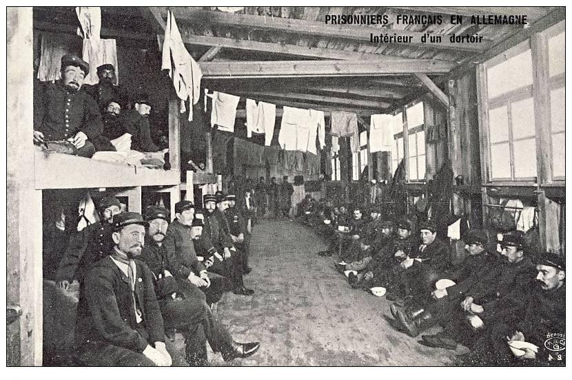 cpa guerre 1914 18 prisonniers fran ais allemagne int rieur d 39 un dortoir 15605 ebay. Black Bedroom Furniture Sets. Home Design Ideas