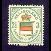 Timbre Helgoland 1876 2 1/2 schilling Nr.17
