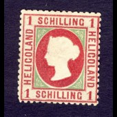 Timbre Helgoland 1869 1 schilling Nr.7