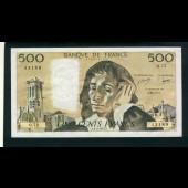 Billet 500 Francs PASCAL 3-2-1977.F.Q72 43189