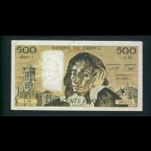 Billet 500 Francs PASCAL 6-11-1975.A. 0.50 88671