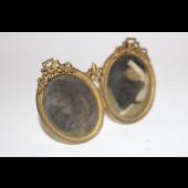 Petit porte photos double fleur de lys XIXe siècle