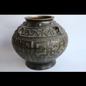 Ancien vase bronze Chine