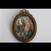 """Peinture miniature Revolution Française Jacobins """"punition"""""""