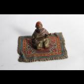 Bronze viennois orientaliste musicien Arabe