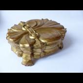 Boite bois doré Fleur de Lys