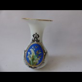 Vase opaline émaillée Napoleon III muguet