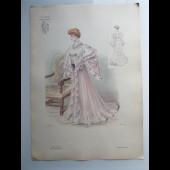 Grande Gravure Accessoires de Mode Femme 1900 Robe
