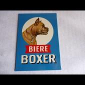 Plaque publicitaire bière BOXER pub alcool