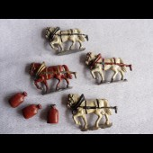 Figurines plomb chevaux agriculture