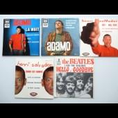 Ensemble 107 disques Vinyle 45T Beatles Salvador .....