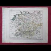 Gravure Carte Allemagne époque 1820