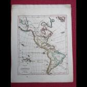 Gravure Carte Amérique époque 1820