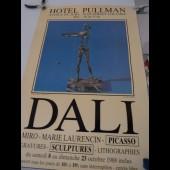 Affiche Salvador DALI Exposition Hôtel PULLMAN 1988