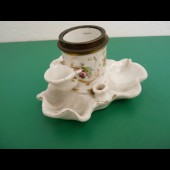 Encrier porte plumes porcelaine