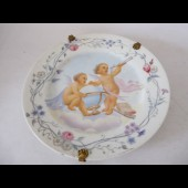 Assiette porcelaine decor d'angelots