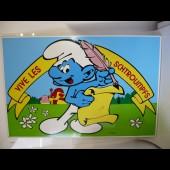 Tableau Panneau dessin SCHTROUMPF Peyo