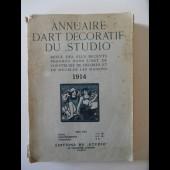 """Livre Annuaire d'art décoratif du """"Studio"""" 1914 Art déco"""