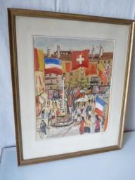 Tableau Peinture Armistice Guerre Genève Suisse
