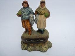 Couple de pêcheurs en terre cuite Chatelaillon