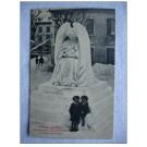 CPA Suisse Neuchâtel La Chaux de Fonds Monument Neige 1907 Sculpture de glace L´Ange Gardien