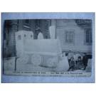 CPA Suisse Neuchâtel La Chaux de Fonds Construction de Neige 1907 Sculpture de glace Locomotive Train RARE