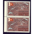 Timbre réclame propagande Navigation Rhone Rhin 1917