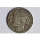 Monnaie argent 1 franc Cérès 1888 A