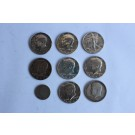 Monnaies américaines Half Dollar Liberty 1942-1967 / 5 cents 1899 USA (x9)