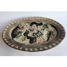 Rare plat céramique vernissée - FOUCARD JOURDAN VALLAURIS periode Picasso