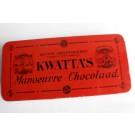 Boite chocolat KWATTA'S Manoeuvre Chocolaad