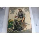 """Peinture à l'huile sur toile Roger PIERHOL 1946 """" Vieux Jardinier """""""
