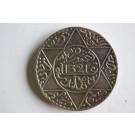 Pièce de monnaie argent Maroc Demi Rial Azizi 1321 England