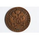 Piece de monnaie 6 Kreuzer 1800 A Vienne Autriche