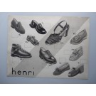 Dessin A. RUFFIEUX Chaussures HENRI