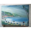 Tableau Peinture signé SANVITALE Bord de mer