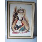 Gravure litho Lithographie André Dignimont Jeune Femme