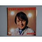 Disque Vinyl 45 tours MONTY C'est Mon Destin Barclay 71364