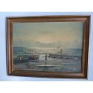 Peinture à l'huile sur panneau Bord de Mer