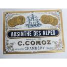 Étiquette absinthe Chambéry