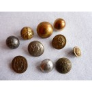 Boutons (10) militaires