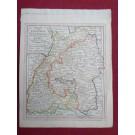 Gravure Carte Allemagne Königreich Würtemberg BADEN époque 1820