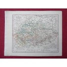 Gravure Carte Allemagne Königreich SACHSEN époque 1820