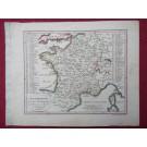 Gravure Carte France époque 1820