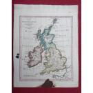 Gravure Carte Grande Bretagne Irlande époque 1820