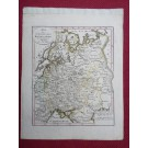 Gravure Carte Russie époque 1820