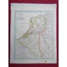 Gravure Carte Pays-Bas Netherland époque 1820