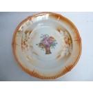 Assiette creuse porcelaine émaillée Bouquet de Fleurs