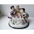 Encrier couvert porcelaine enfants 19 ème siècle