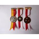 Médailles (3 ) Pompier